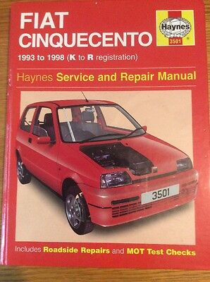 Fiat Cinquecento Service and Repair Manual by Steve Rendle, Spencer Drayton (Ha…