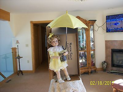 "Shirley Temple ""Morton Salt Umbrella Girl"" By Nancy Leslie Porcelain Doll"