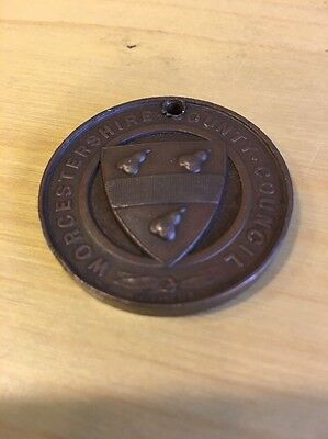 Worcestershire County Council School Attendance Medal 1907-1908