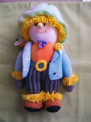 Knitted scarecrow toy