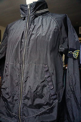 STONE ISLAND GREY/Silver shimmer cagoule L