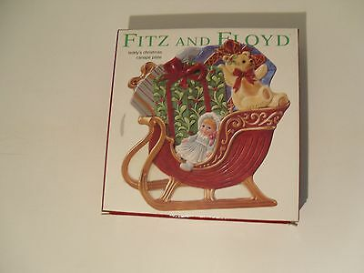 """Fitz and Floyd """"Teddy's Christmas Canape' Plate  NEW"""