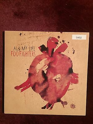 "Foo Fighters 7"" Vinyl Single. All My Life. Excellent condition. Ltd. Numbered"
