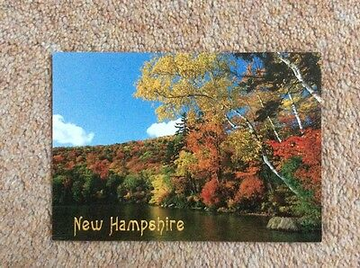 (R) Postcard . Russell Pond, Woodstock. New Hampshire