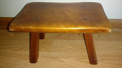 Cushman Colonial Maple Stool Made in Bennington Vermont 1940's Numbered 9038