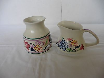 Poole Pottery - matching small jug and vase / pot