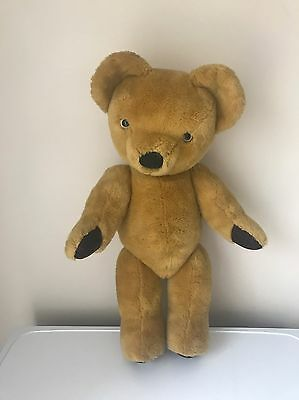 "A Charming Vintage Merrythought Jointed 21"" Tall Teddy Bear Made In England"