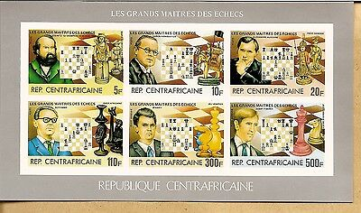 Chess 1983 Centrafricaine, Sheet 907/12  Imperf MNH