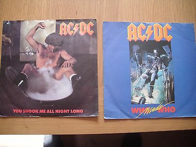 "ac/dc who made who you shook me all night long 7"" singles 1986"