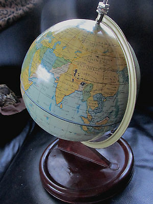 Chad Valley 1950's Tinplate Globe Made in England by Appointment Toy Makers.