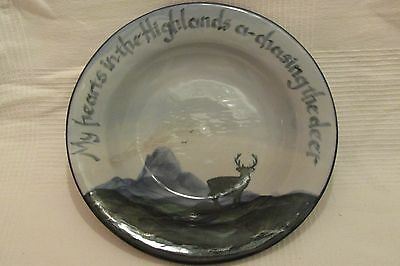 """Large Highland Stoneware Haggis Dish  - """"My Hearts in the Highlands"""""""