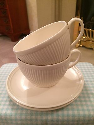 Wedgwood Windsor Cream Large Coffee Cups And Saucers