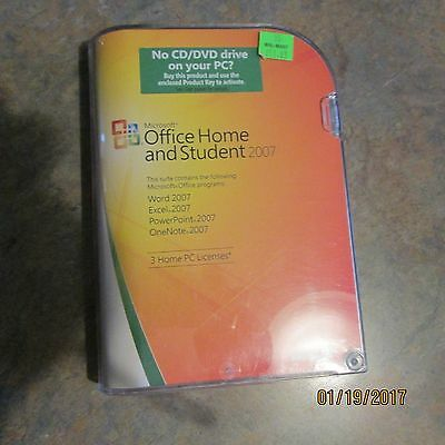 Microsoft Office Home and Student 2007 - 3 home  PC Licenses