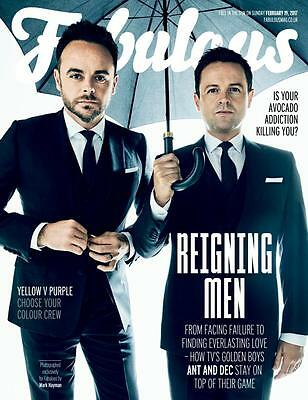 Fabulous Magazine February 19th 2017 Ant And Dec New Bagged