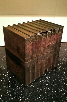 Huntley and Palmers biscuit tin in the shape of some books c 1900