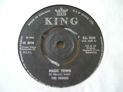 The Vogues Magic Town RARE ORIG U.K. King 45 Psych / Garage EX+ Condition