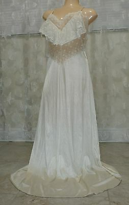Vintage Gilead  Lacy Nylon Nightgown--Size-Large--Bust To 40""