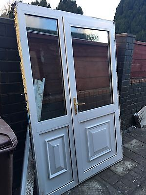 Used White UPVC Door and side panel