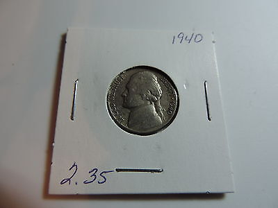 1940 US American Nickel coin A536