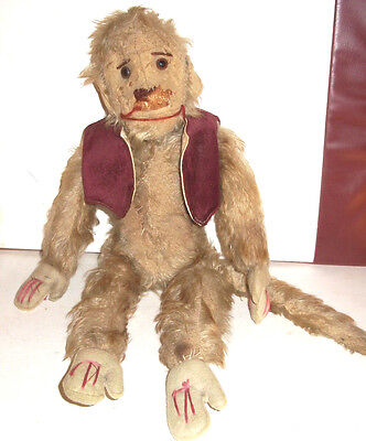 Antique Mohair Straw filled Monkey - Stieff ? Schuco ? unsure of maker