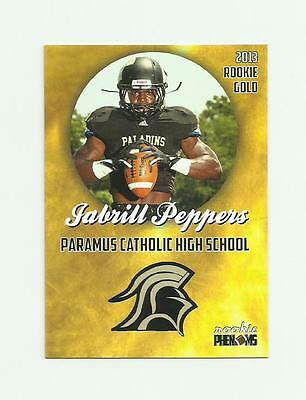 2013 Rookie Phenoms Jabrill Peppers Gold High School Rc Nm-Mt