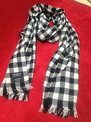 Cashmere OSPREY Black & White Checked Scarf