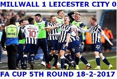 Millwall 1 Leicester City  0 The New Den  FA Cup 5th Round Jumbo Fridge Magnet