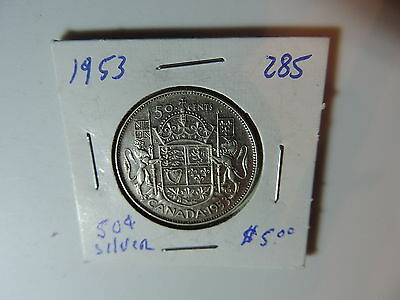 1953  Canadian 50 cent  coin A834