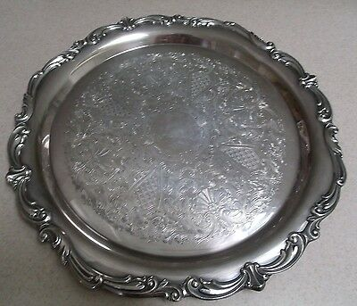 Beautiful Ornate S.P. Serving Tray by Towle #2855