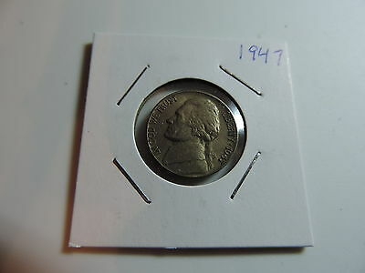 1947 US American Nickel coin A569