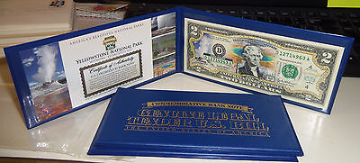 U.S. Colorized $2 Commemorative Bank Note Yellowstone National Park