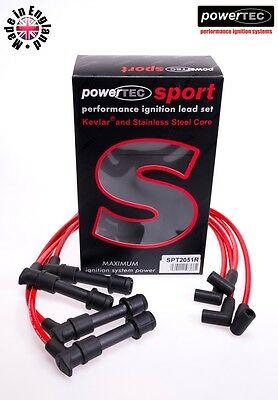 PowerTEC 8mm Ignition HT Leads/Wires/Cables Lotus Elan SE 1.6i Turbo 16v M100