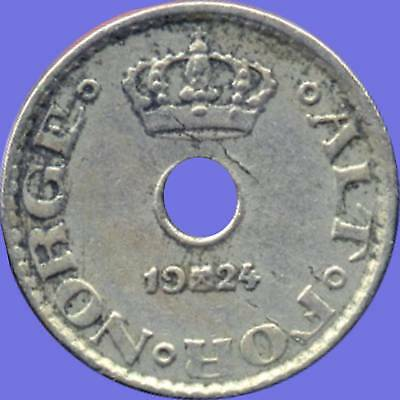 1924 Norway 10 Ore 1942 5 Ore & 1913 1 Ore Coins