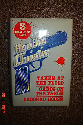 Agatha Christie. Omnibus. Taken at The Flood. Cards on The Table & Crooked House