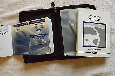 Ford: Windstar 2002 Owner's Guide with Case