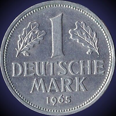 "1965 ""D"" Germany 1 Mark Coin"