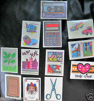 Lot of 1989 Retro Neon Decals MAGIC STICKERS by Panini (NEW - Vintage)