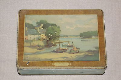 Vtg. Quiet Haven Blue Bird Confectionery Tin Canister - Harry Vincent England