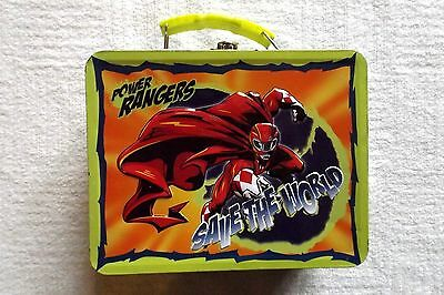 "Power Rangers Tin Box Lunch Pail - Save The World - Go The Limit - 7 1/2"" x 6"""