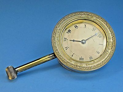 ORNATE Antique Brass Car CLOCK WALTHAM Watch Co KEEPS PERFECT TIME Automobile