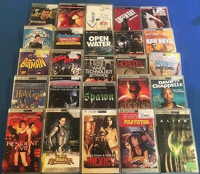 Large Lot of UMD - PSP Movies - 25 movies - Pulp Fiction, Alien, Batman, Comedy+