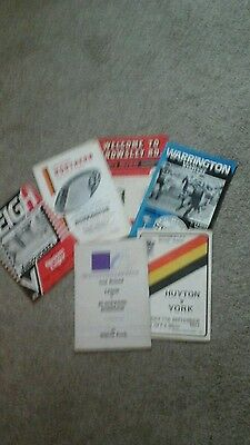 6 rugby league programmes