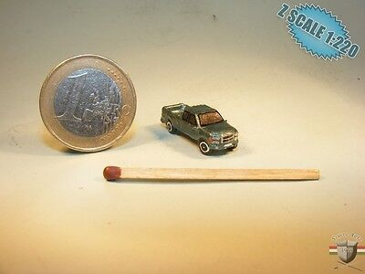 Ford F250 Z scale 1/220 hand-painted metal model