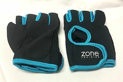 Ladies BLUE MEDIUM Fitness Gloves Weight Lifting Gym Training Workout Cycling