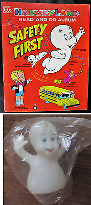 CASPER the FRIENDLY GHOST 1972 Activity Book & 1995 Glow in Dark Vinyl Puppet