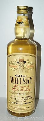 """alter seltener Old Time Whisky """" His Name is Bill McKay """" Malt Whisky Scotch RAR"""