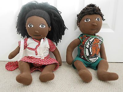 Hand Made Pair Dolls from South Africa