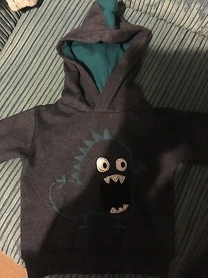 boys monster hoodie 2-3 years