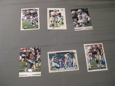 6 Upper Deck Trading Cards NFL Oakland / LA Raiders