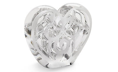 LALIQUE Music is Love clear crystal heart Signed by Sir Elton John